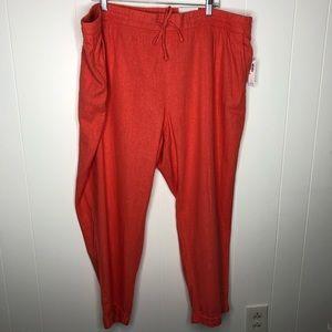 NWT Old Navy linen straight leg pants. Size XXL.